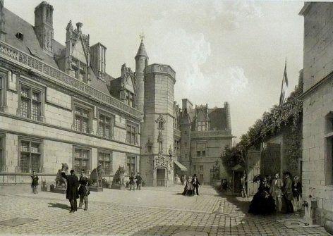 L'Hôtel de Cluny et son musée en 1860 .