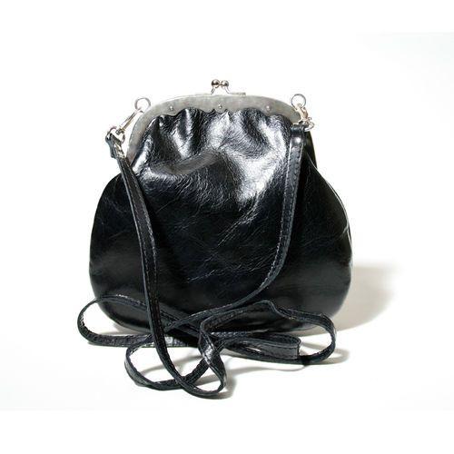 #Cellarrich - Schwarze, elegante Damenhandtasche mit Klippverschluss