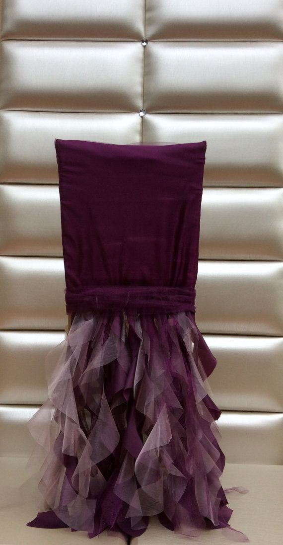 Ruffled chair cover. Free shipping cost
