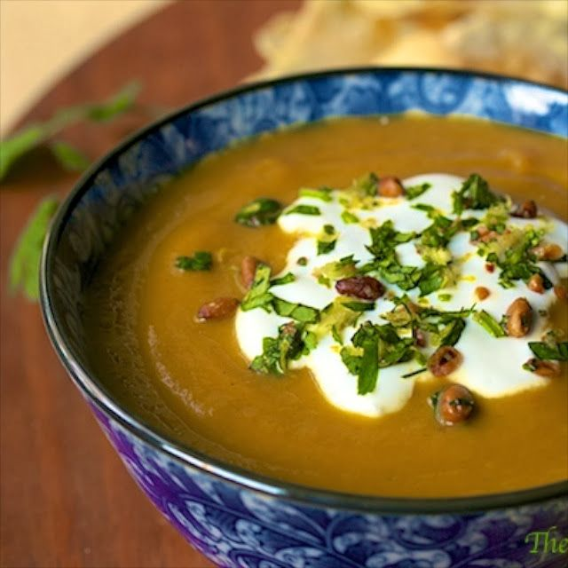 carrot amp coriander soup w toasted pine nut amp fresh herb gremolata ...
