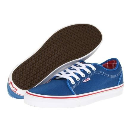 VANS CHUKKA LOW SKY BLUE/RED) MEN'S SKATE SHOES - OXFORD