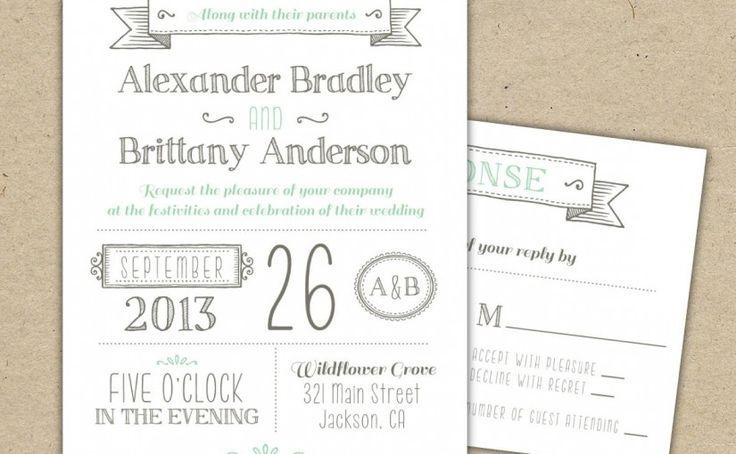 309 best Invitation Sample images on Pinterest Invitations