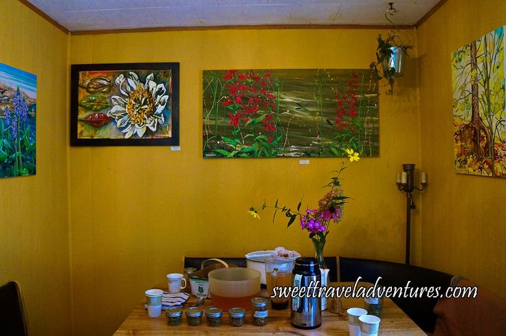 Sumac-ade, Herbal Teas, and Patrick's Paintings at Bark Ecologic Gardens and Botanicals in Haliburton Highlands, Ontario