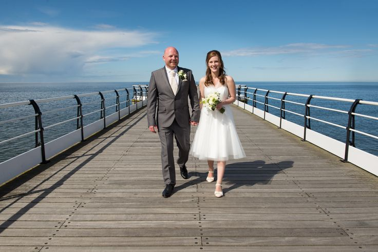 Natalie and Michael's Seaside Wedding at Saltburn Spa #Saltburn #wedding #SaltburnPier