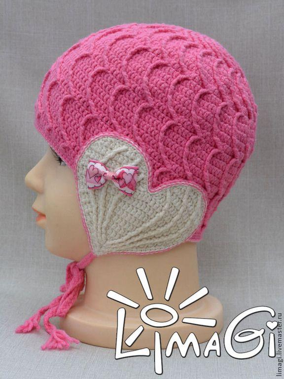 """Купить Шапочка """"Волнительно"""" - описание - шапочка для девочки, шапочка вязанная, шапочка крючком, шапочка детская"""