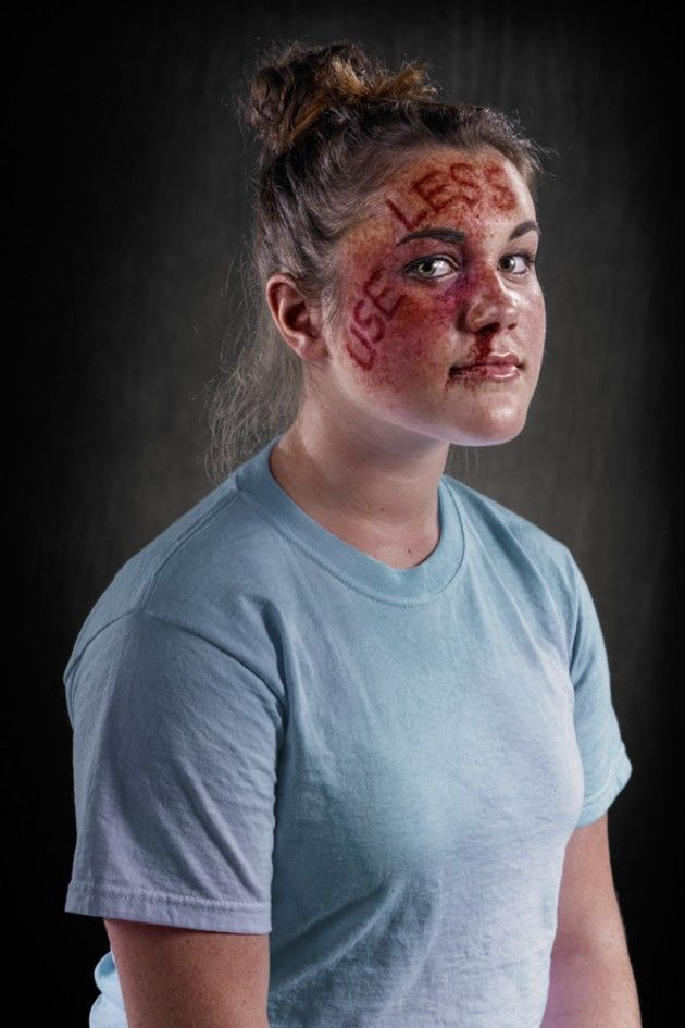 Rich Johnson's Weapon of Choice Project, a visual demonstration of the power of verbal abuse, intended to provoke a conversation about the problems of domestic violence, child abuse, and bullying.
