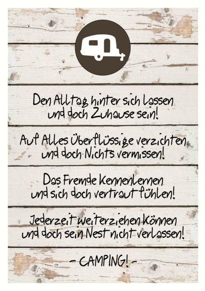 """Originaldruck - Bild Campingspruch """"Zuhause"""" Wohnwagen Druck DINA4 - ein Designerstück von Holz-und-Meer bei DaWanda"""