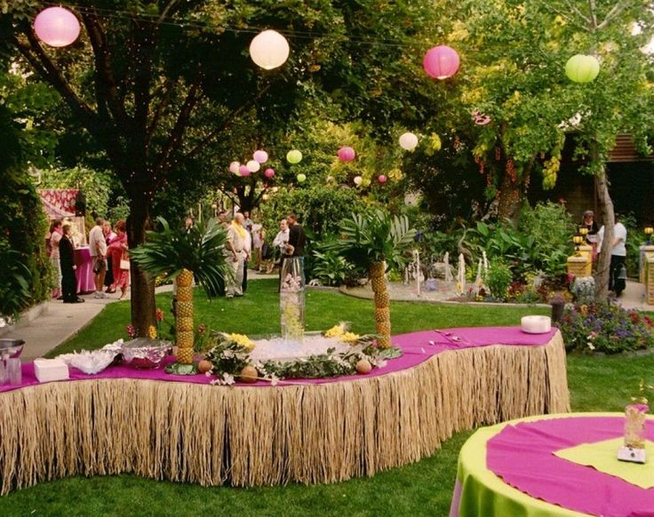 Paper Lanterns Decor Will Bring The Fun And Festivity On Your Luau Hawaiian  Beach Party. Outdoor Wedding DecorationsParty Table ...