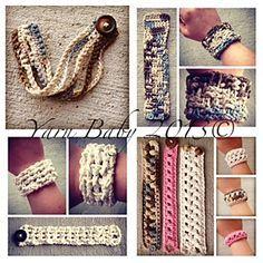 Seven crochet bracelet patterns for free!