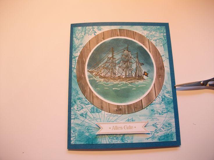 Karte mit dem Stempelset At the Seaside von Viva Decor und Schriftzug mit einem SU Set