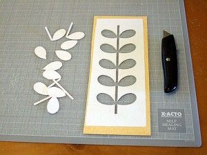 DIY stencil idea with Orla Kiely pattern