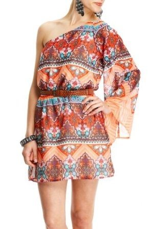 2b by Bebe. Corrine Printed Bell Sleeve Dress, 30% discount; only $39.95!