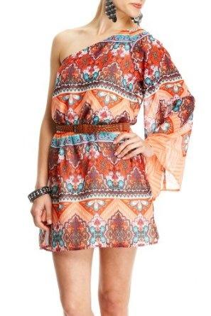 2b by Bebe. Corrine Printed Bell Sleeve Dress, 30% discount; only $39.95!