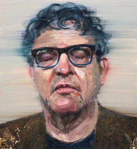 Colin Davidson............Portrait of Paul Muldoon 2013 oil on linen 127 x 117 cm