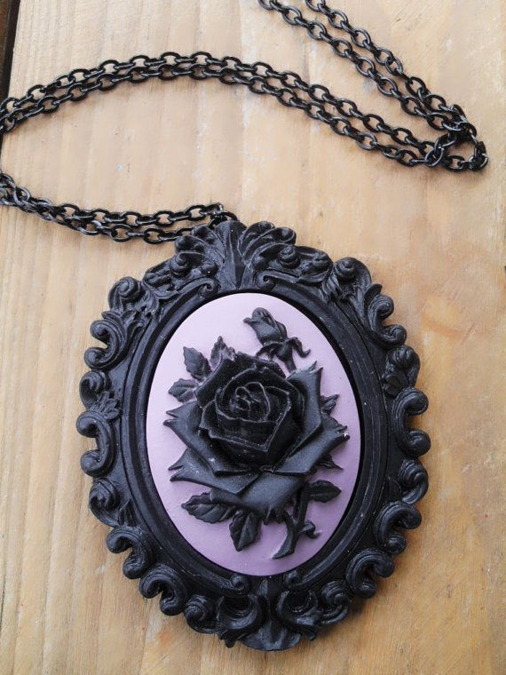 Gothic Cameo Necklace by PoisonTragic on Etsy