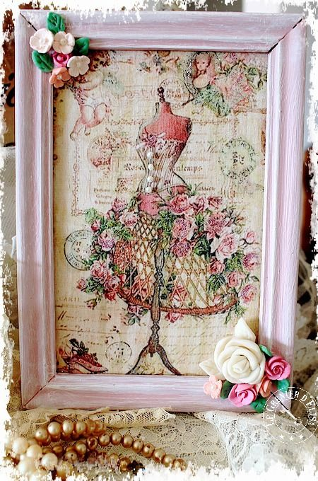 Cadre romantique shabby so girly patine shabby girly et for Decoration shabby romantique