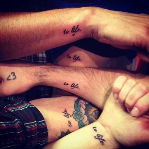 To lifeTattoo Ideas, Friends Tattoo, Tattoo Pattern, Families Tattoo, Matching Tattoo, A Tattoo, Tattoo Design, Friendship Tattoo, Design Tattoo