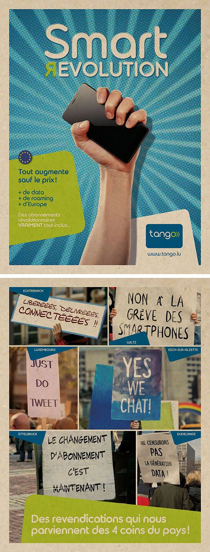 Annonceur : Tango Campagne : Smart Revolution Agence : IDP Publication : juin 2016