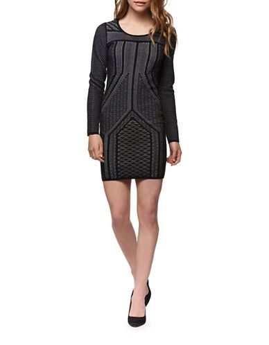 Brands | Sweater Dresses  | Two-Tone Sweater Dress | Hudson's Bay