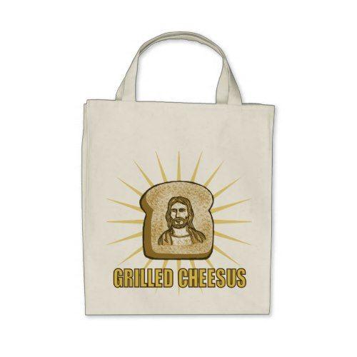 Grilled Cheesus canvas totebag Tote Bag
