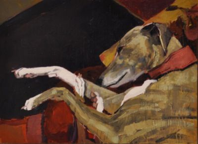 Rodgerson,Jenny Sleeping Oil on Board - Oil on panel Image Size: 22 x 30cm