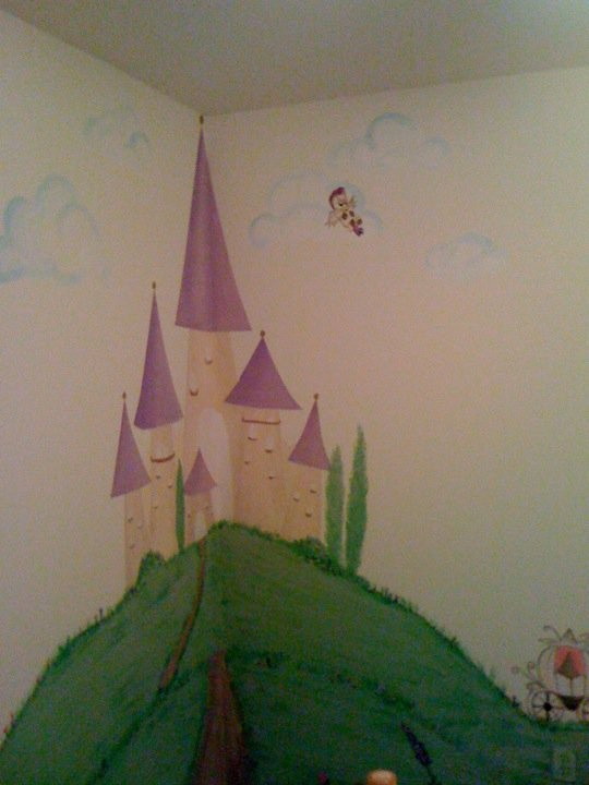 Castle mural mural pinterest castle mural room for Castle mural kids room