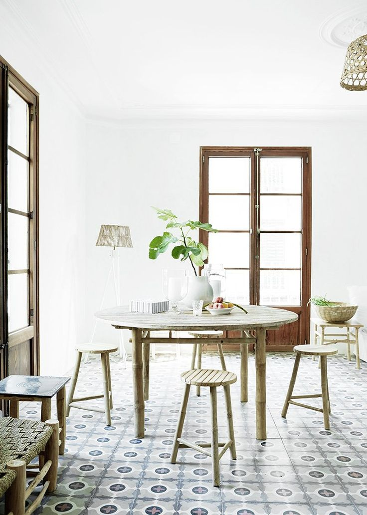 Cement Tile Floors   Spanish Apartment Style