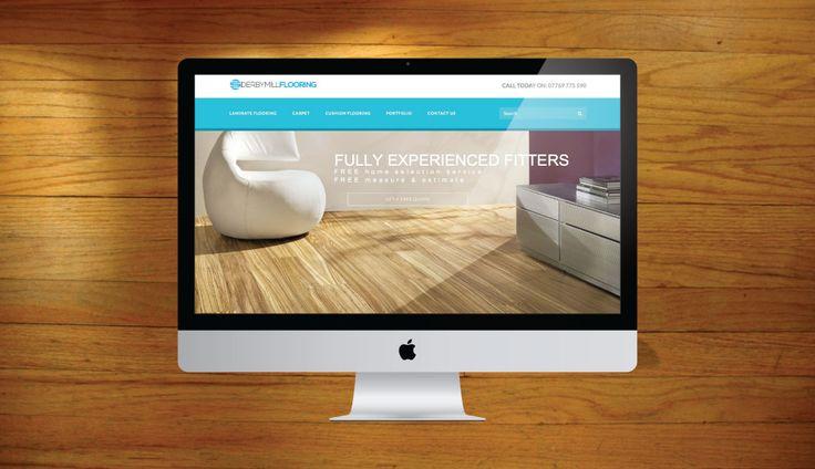 DERBY MILL FLOORING - from our #WordPress #WebsiteDesign Portfolio! #WebDesign #Derby
