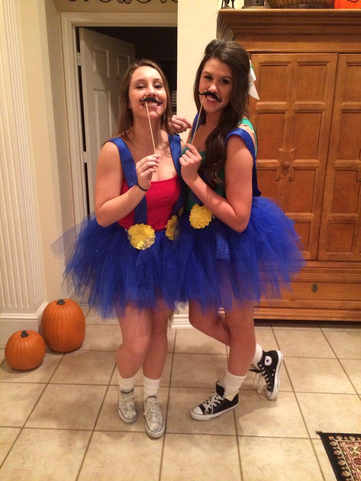 girly mario and luigi diy costume halloween costumes - Girl Mario And Luigi Halloween Costumes