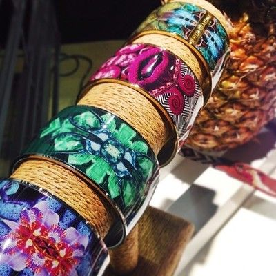 A sneak peek at our AW14-15 Amazona Code bangles...  www.floramazona.com