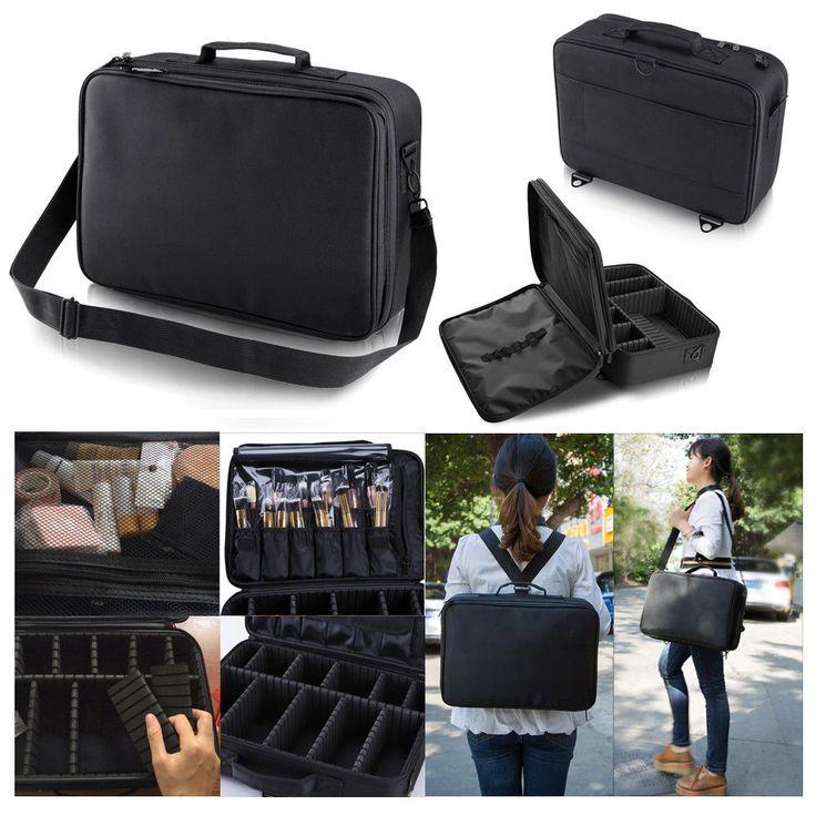 Professional Makeup Bag Cosmetic Case Storage Handle Organizer Artist Travel Kit #Unbranded