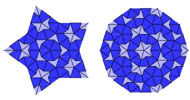 Penrose tiling stile laser cutting panel. Vector geometric