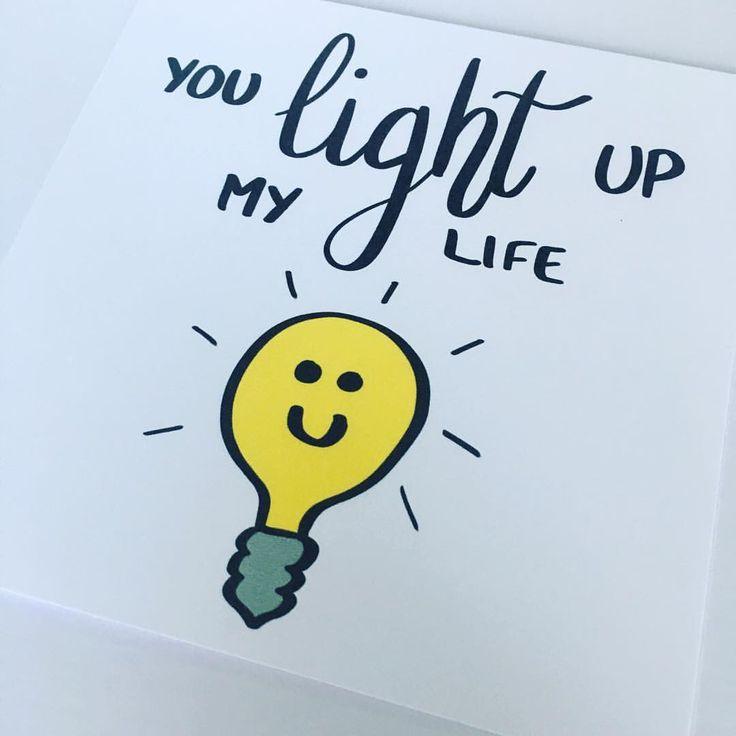 You Light Up My Life Cute Card Funny Card Pun Punny