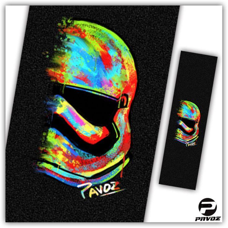 Pro Skateboard Grip Tape Stormtrooper