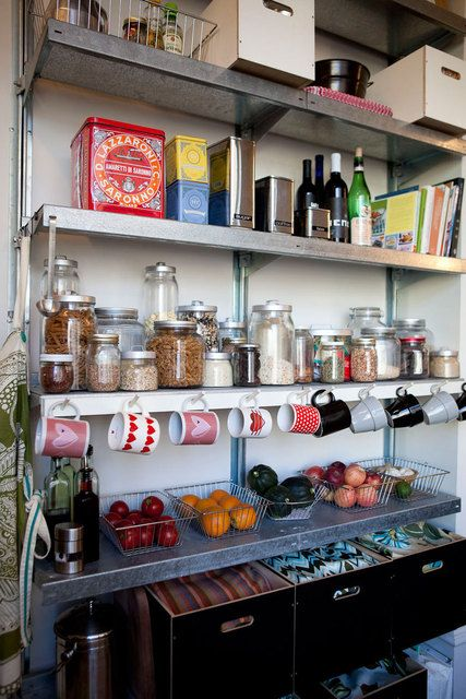 Open face shelving in the kitchen (plus those storage jars!!)