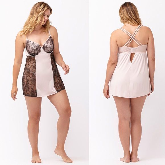 Sexy Lane Bryant 2-Piece Lingerie Plus Size 22/24 ✅REASONABLE Offers No Lowballing! Plus Sizes 3X (22/24) With sheer lace panels and a sexy strappy back, every detail of this merry widow was designed to thrill. Lined underwire cups boost and support like your favorite Cacique bra, with adjustable straps for a perfect fit. A matching G-string completes the set. Lane Bryant Intimates & Sleepwear Chemises & Slips