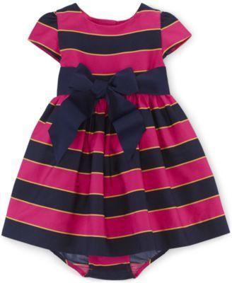 Ralph Lauren Baby Girls' Sateen Dress
