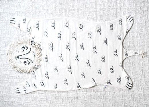 Lion Baby Blanket by Roxy Marj