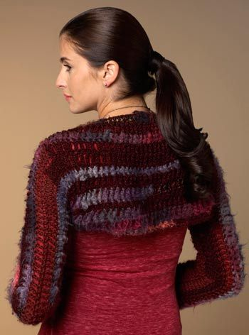Crochet Patterns Using I Love This Yarn : Crochet Bolero/Shrug: free pattern Things mandi would love ...