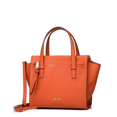 Narancssarga Női bőr táska