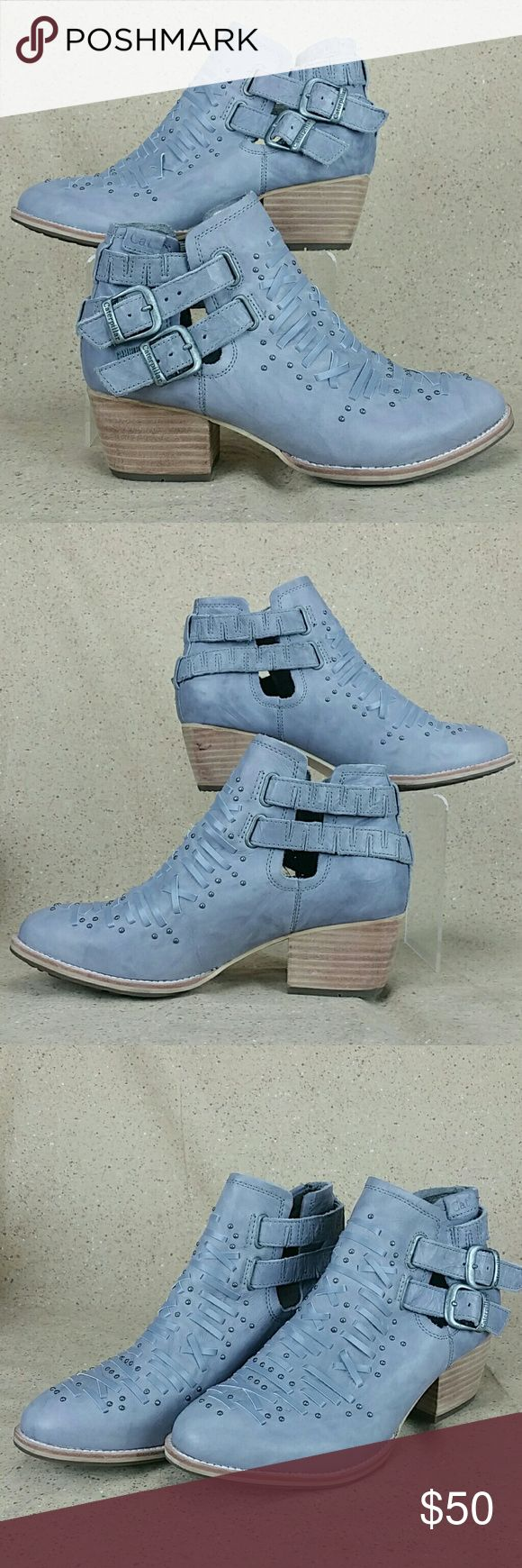 Cat Footwear Cheyenne Ankle Booties W 7.5w These booties are pre-owned in excellent condition. Gentle wear on the outside from use. Little to no wear to the bottoms. Look over the pictures carefully before purchasing. Caterpillar Shoes Ankle Boots & Booties