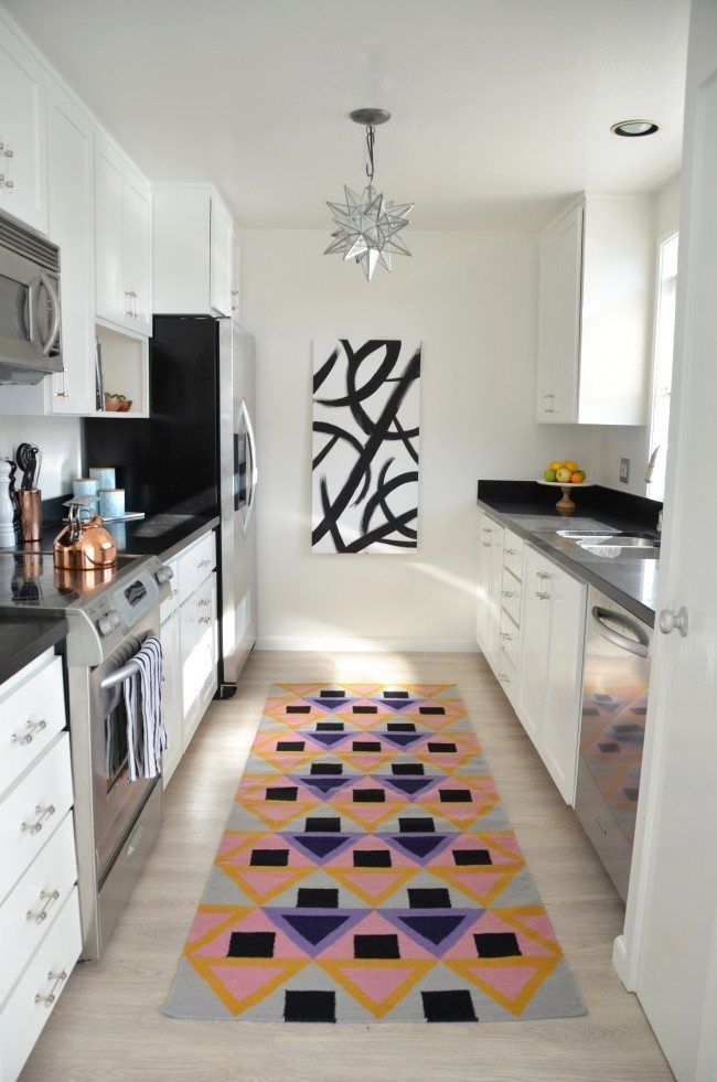 Galley Kitchen Renovation Reveal White Galley Kitchenssmall