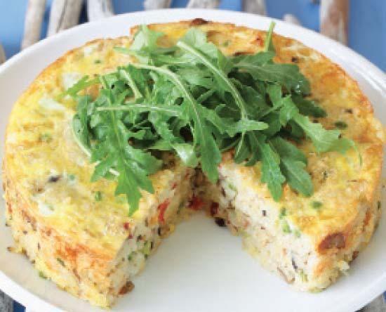 Mushroom and rice cake | Sampioen-en-rys-koek #recipe #vegetarian