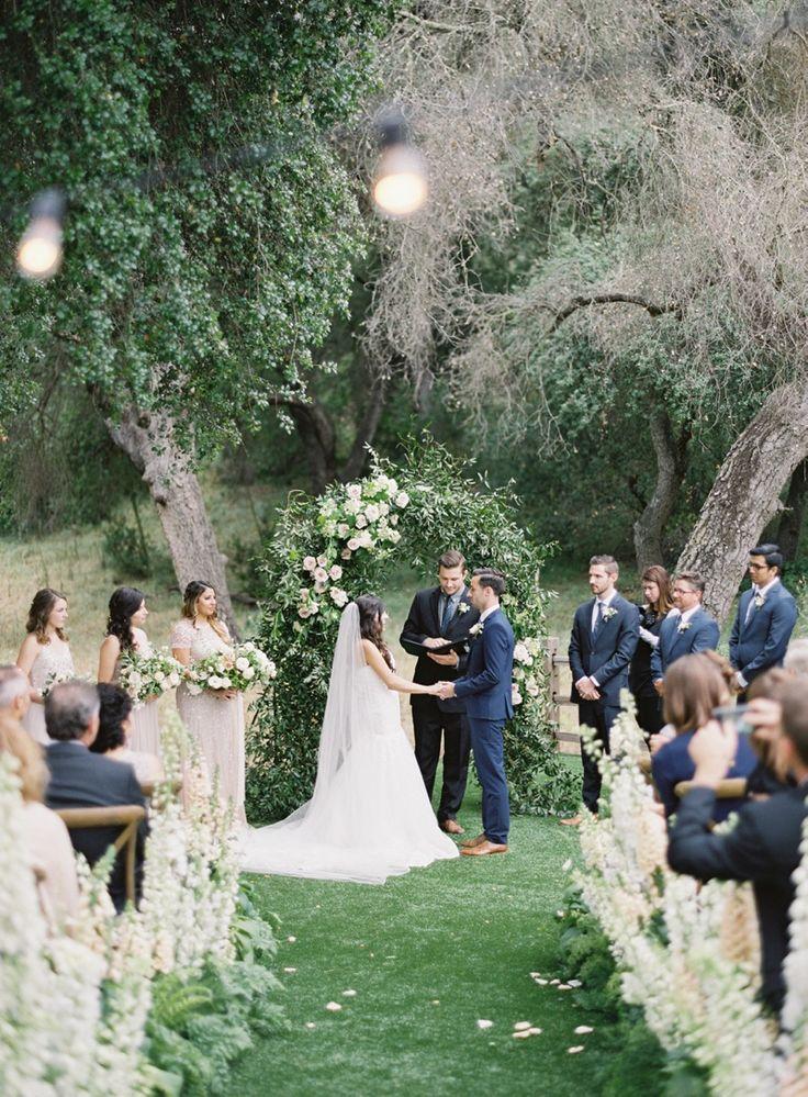 ceremony aisle inspiration. san diego ranch wedding. michael radford photography. plenty of petals florist