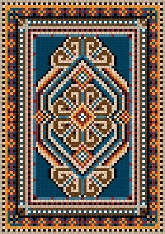 Persian/Oriental Style Rug Mosaic Pattern