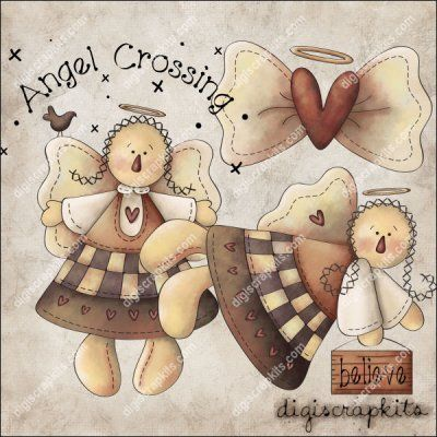 Angel Crossing 1 Clip Art Set