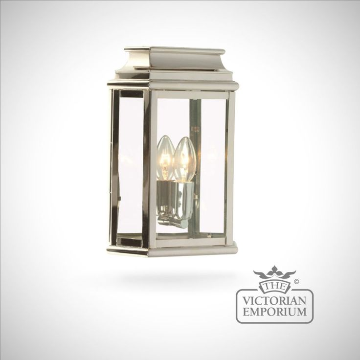 Martins Br Wall Lantern Polished Nickel Outdoor Lights Rectangular Victorian Style Light In