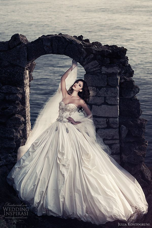 julia kontogruni wedding dresses 2013 bridal beautiful ball gown