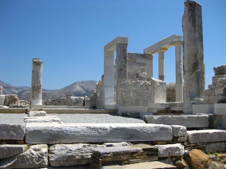 "An ancient Greek temple located in the middle of farms on the island of Naxos... ""The Temple of Demeter was built in the 6th century BC. The temple was partially dismantled in the 6th century AD when a church was built over it. In later centuries the site was abandoned and plundered for its marble..."""
