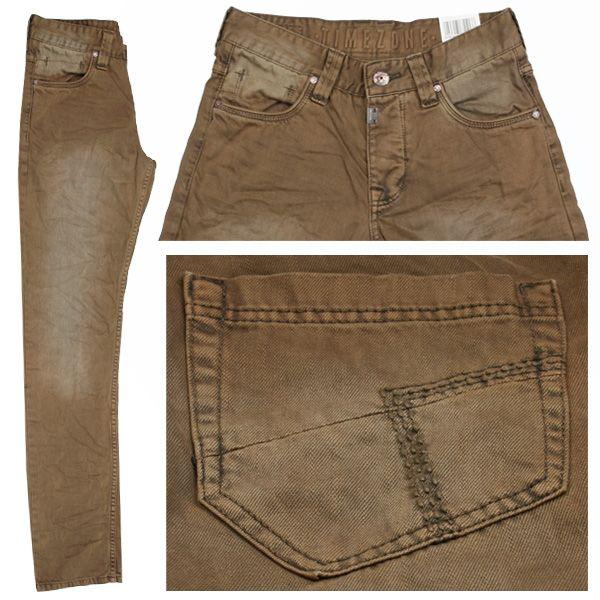 Timezone Herren Stretch Jeans / Form: EduardoTZ / Farbe: mittelbraun verwaschen Jeans - FarbNr.: 6151 / im Timezone Jeans Online Shop